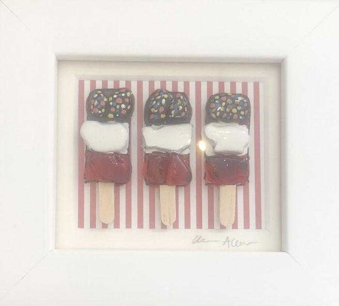 Small Red Striped Fabs
