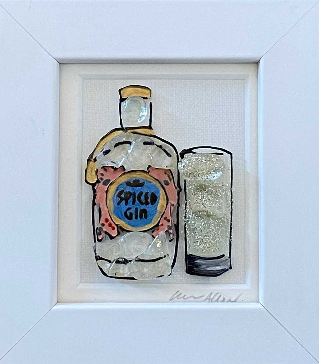 Small Spiced Gin Art Title - Online Art Shop Brighton, UK