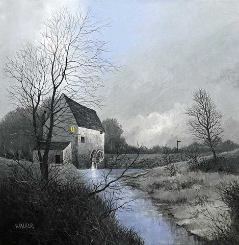 Winter Watermill Art Title - Online Art Shop Brighton, UK
