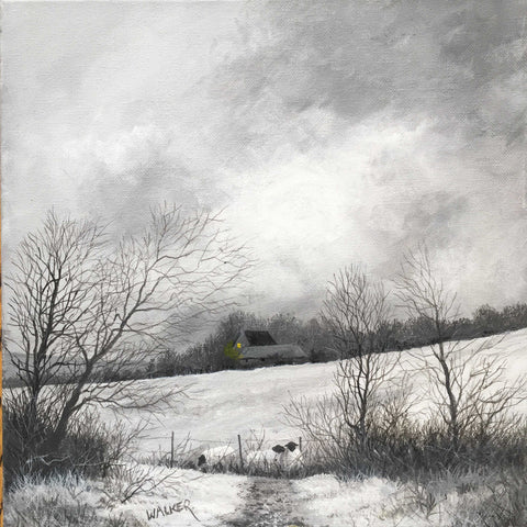 Winter Fields Art Title - Online Art Shop Brighton, UK