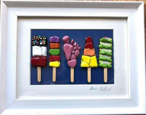 Dark Blue Retro Lollies