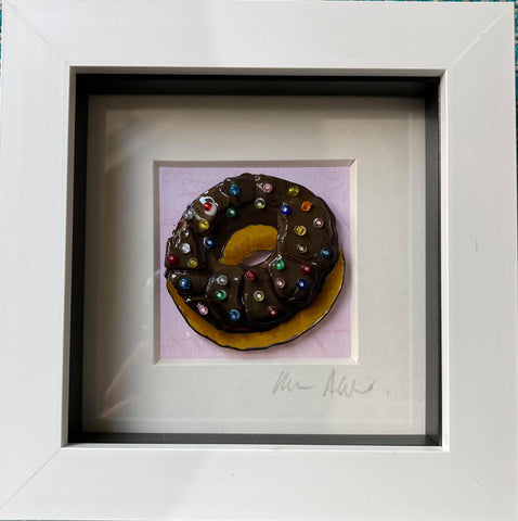 Boxy Chocolate Doughnut with Sprinkles