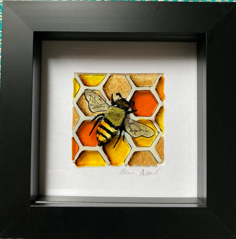 Boxy Honeycomb Bee I