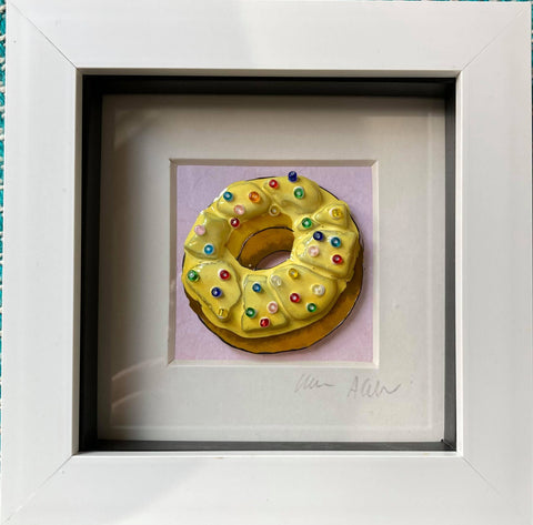 Boxy Lemon Doughnut with Sprinkles