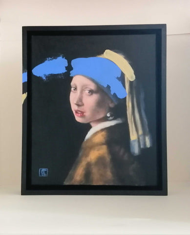 Ultramarine No.4 Girl with a Pearl Earring Art Title - Online Art Shop Brighton, UK