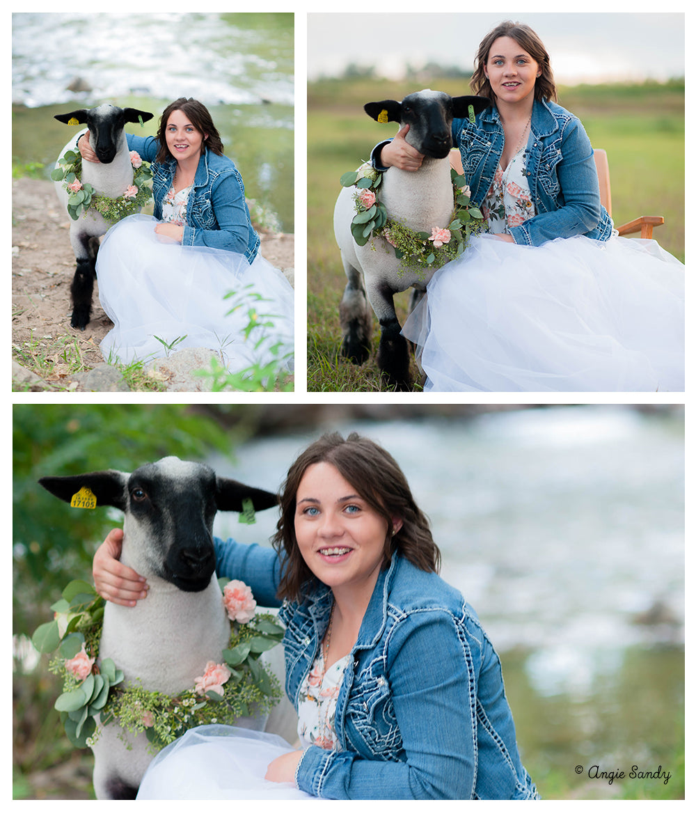 Sandy Sisters Lamb Photoshoot - Flower Wreaths and Tulle Skirts