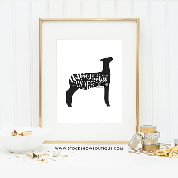 Free livestock print nothing will work stock show boutique