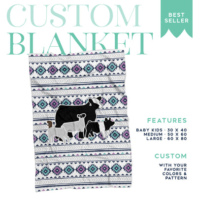 Custom Made - Fleece Blanket- Livestock Gifts - Stock Show Boutique