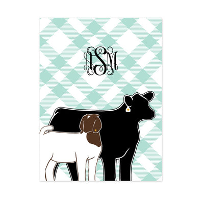 Custom Made - Blanket Fleece Monogram- Livestock Gifts - Stock Show Boutique