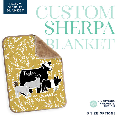 Custom Made - Sherpa Blanket- Livestock Gifts - Stock Show Boutique