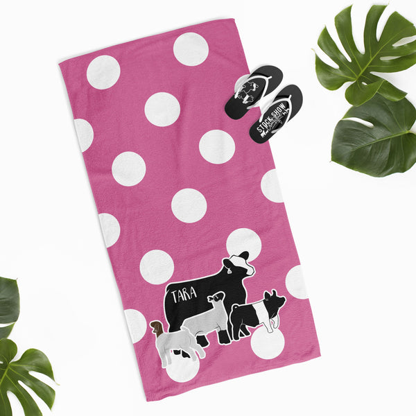 Custom Made - Bath & Beach Towel- Livestock Gifts - Stock Show Boutique