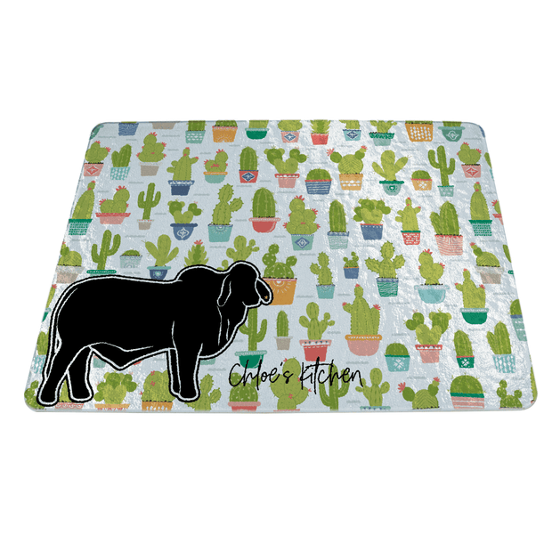 Custom Made - Cutting Board - Rectangle- Livestock Gifts - Stock Show Boutique
