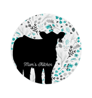 Custom Livestock Cutting Board - Round- Livestock Gifts - Stock Show Boutique