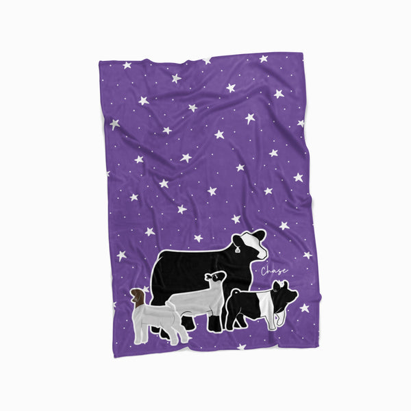 Custom Livestock Fleece Blanket- Livestock Gifts - Stock Show Boutique