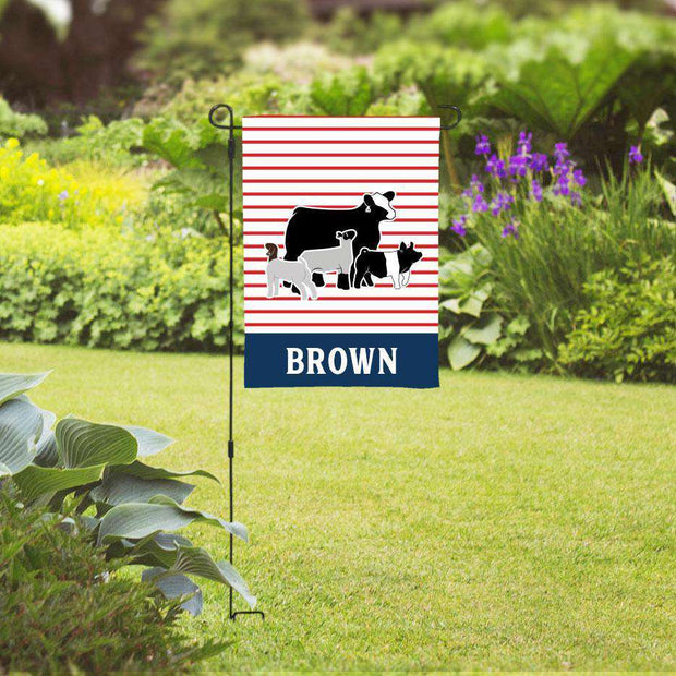 Custom Livestock Garden Flag- Livestock Gifts - Stock Show Boutique