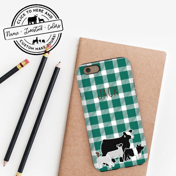 Custom Livestock iPhone Case- Livestock Gifts - Stock Show Boutique