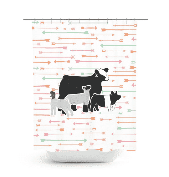Custom Made - Shower Curtain- Livestock Gifts - Stock Show Boutique