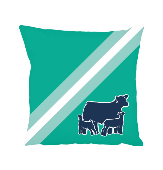 Custom Livestock Throw Pillow- Livestock Gifts - Stock Show Boutique
