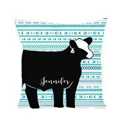 Custom Made - Throw Pillow- Livestock Gifts - Stock Show Boutique