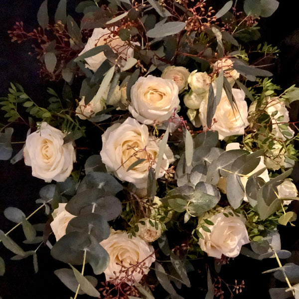 Natural White Rose Bouquet