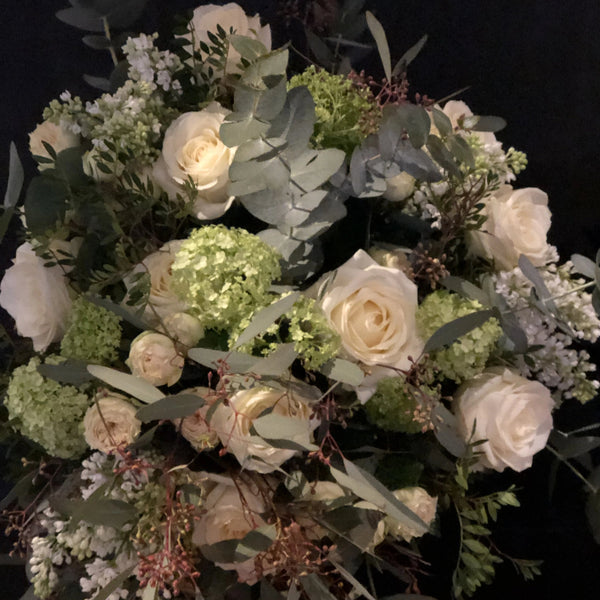 Ravishing White Classical Bouquet