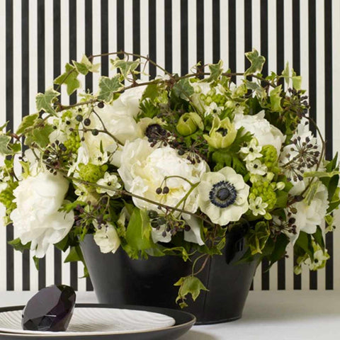 Black and White Bouquet Amanda Austin Flowers