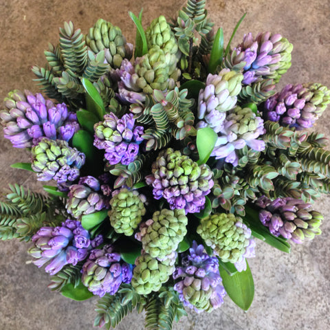 A Stylish Hyacinth Bouquet Amanda Austin Flowers
