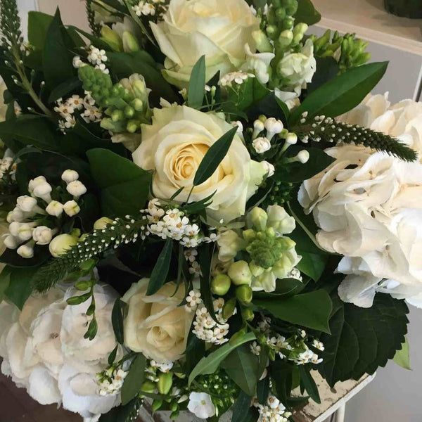 Classic White Seasonal Mix Bouquet Amanda Austin Flowers