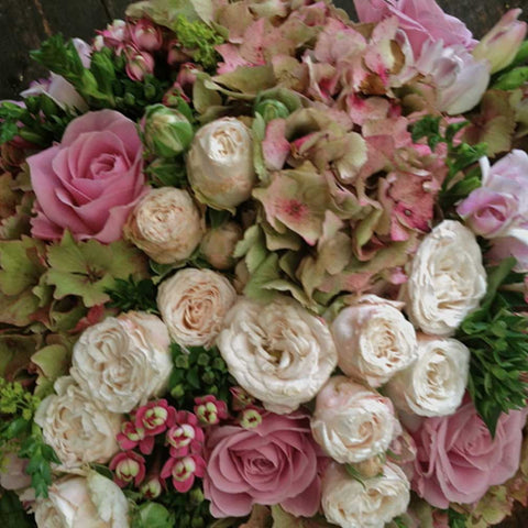Chic Bouquet of Hydrangeas and Roses Amanda Austin Flowers