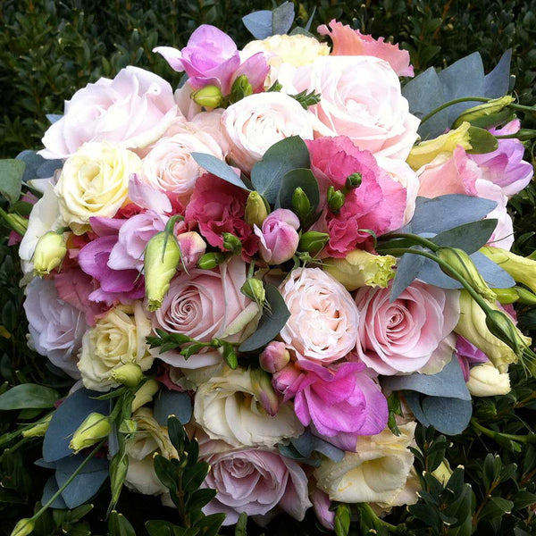 Pink Freesia and Rose Bouquet Amanda Austin Flowers