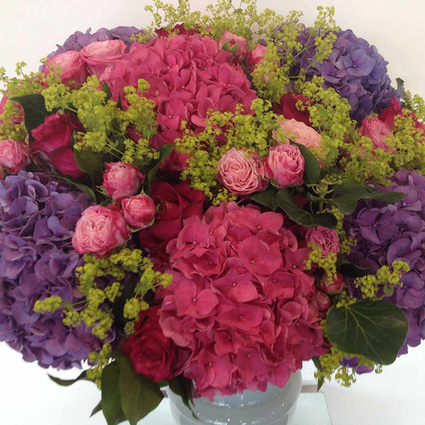 Pink Purple Hydrangea Bouquet Amanda Austin Flowers