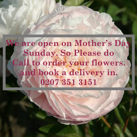 WE ARE OPEN ON MOTHERING SUNDAY- Beautiful Bouquets and Baskets