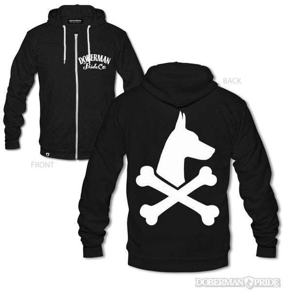 Bad To The Bone Unisex Zip-up