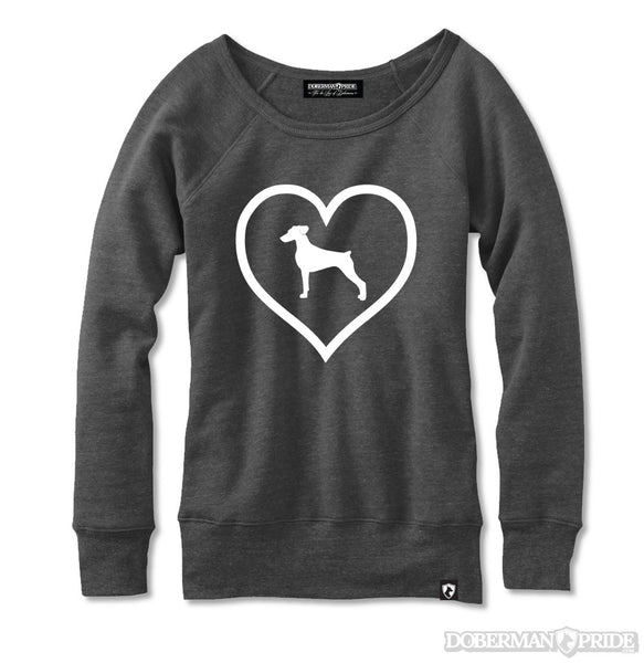 Heart On Womens Sweatshirt