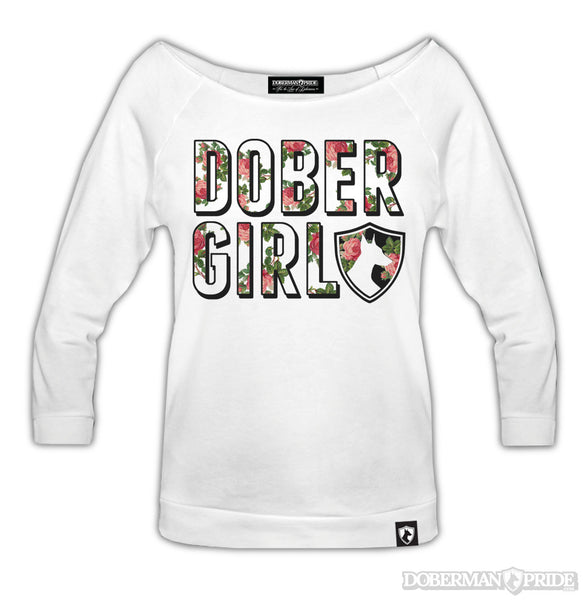 Dober Girl Womens Wide-neck Shirt