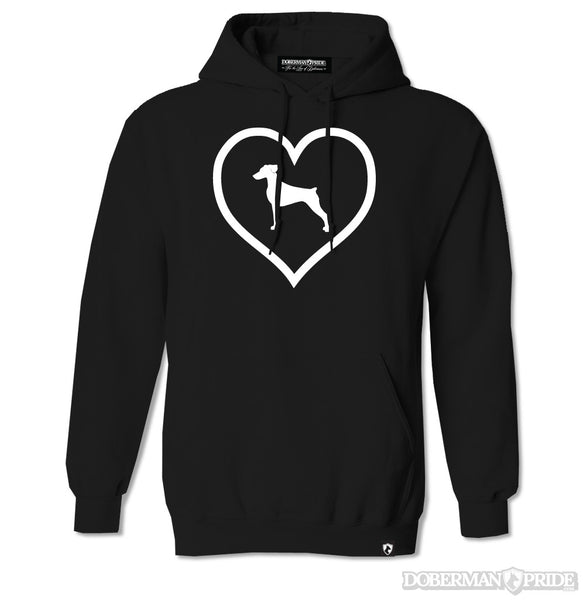 Heart On Womens Hoodie
