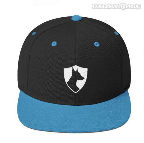 Crest Snapback Hat - Black/ Teal