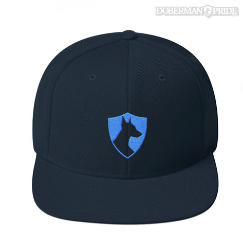 Crest Snapback Hat - Black/ Blue