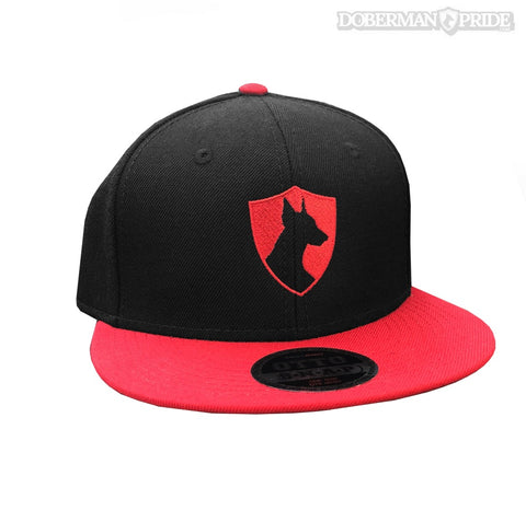 Crest Snapback Hat - Black/ Red