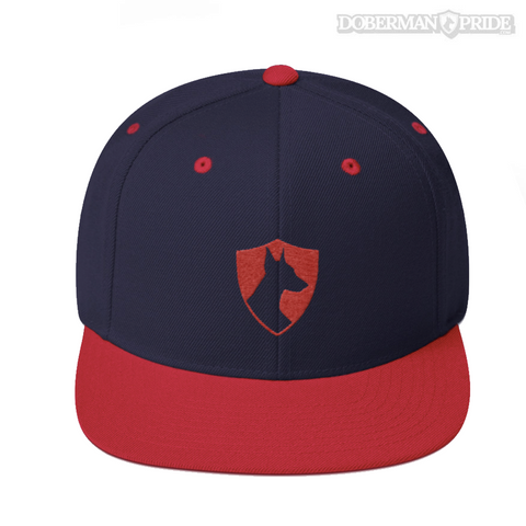 Crest Snapback Hat - Navy/ Red