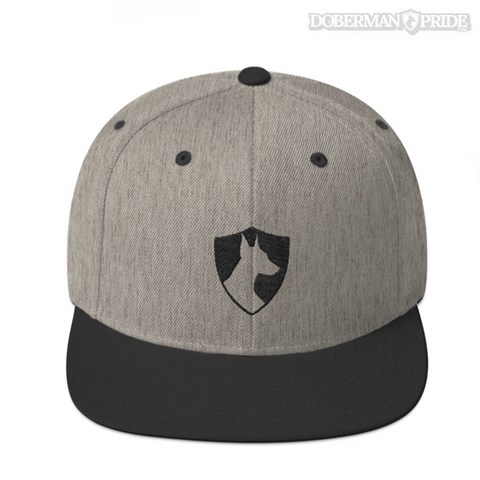 Crest Snapback Hat - Grey/ Black