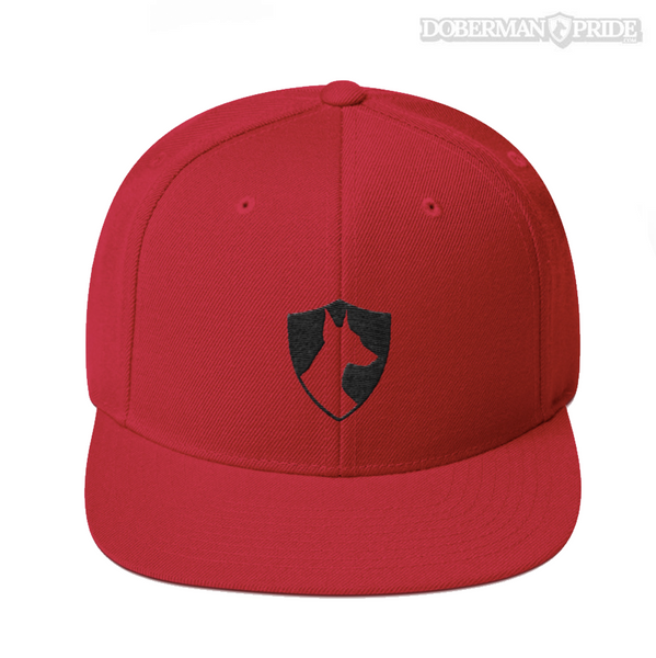 Crest Snapback Hat - Red