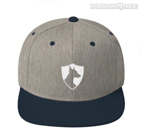 Crest Snapback Hat - Grey/ Navy