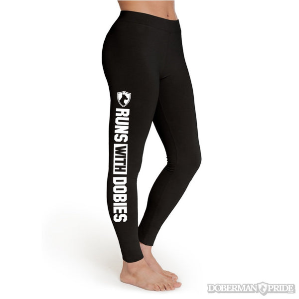 Runs With Dobies Womens Leggings