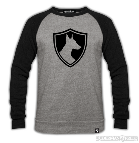 Crest Mens Raglan Sweatshirt, Medium