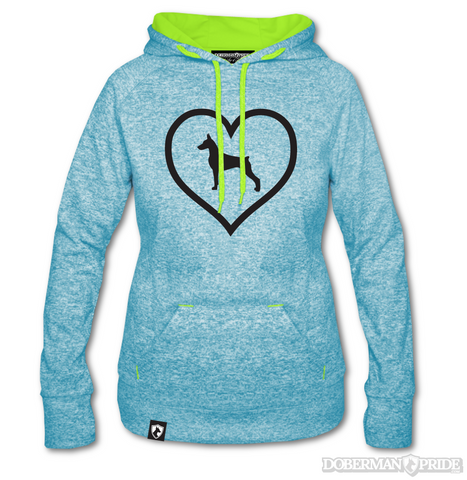 Heart On Womens Athletic Sweatshirt, Medium