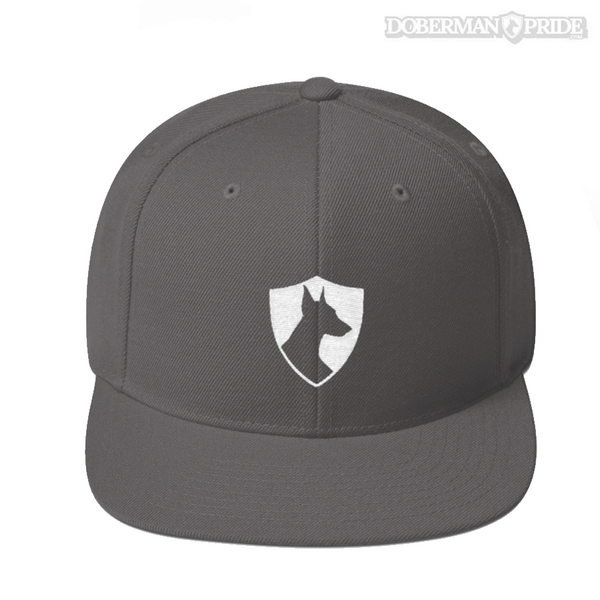 Crest Snapback Hat - Dark Grey