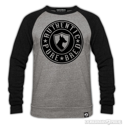 Authentic Mens Raglan Sweatshirt, XL