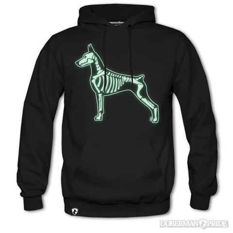 Glow-in-the-dark Bones Mens Hoodie