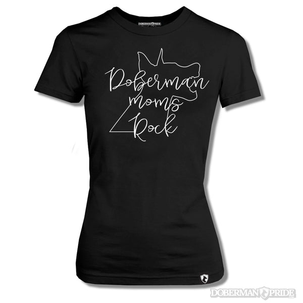 Doberman Moms Rock Womens Tee